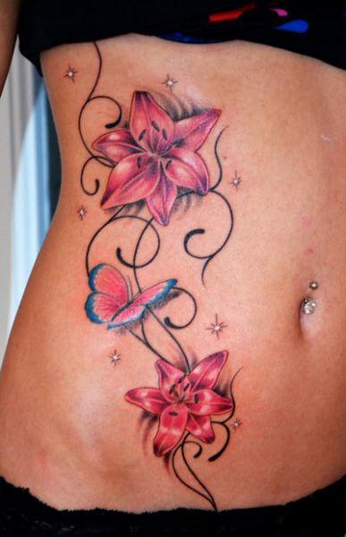 Galerie Blumen Und Schmetterlinge Tattoo Zentrum Lubeck