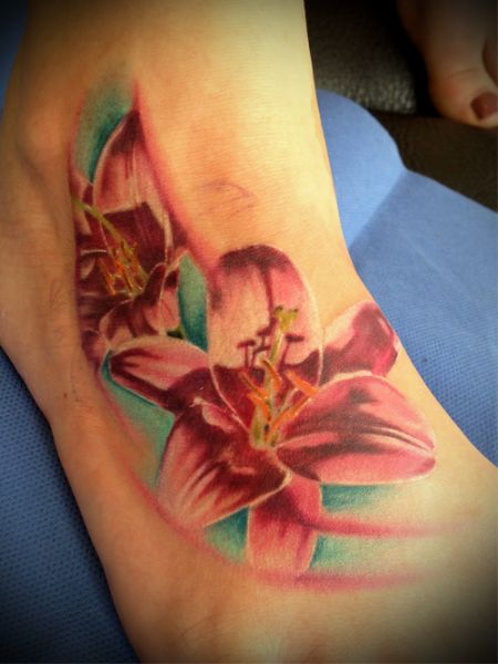 Tattoo blume lilie flower lily 8